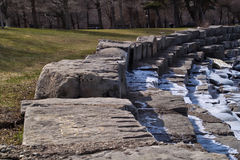 Chicago au bord du lac du côté sud du lac Michigan un jour glacial d'hiver Photographie stock libre de droits