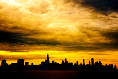 Chicago au coucher du soleil Photo libre de droits