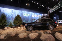 Chicago auto show. You can try all Jeeps models right here Stock Photo