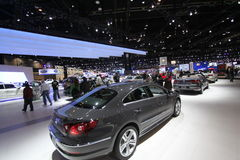 Chicago auto show 2011. Volkswagen exposition at Chicago auto show 2011 Stock Photos