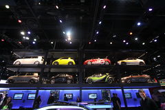 Chicago auto show 2011. Scion exposition at Chicago auto show Royalty Free Stock Images