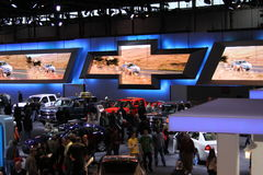 Chicago auto show 2011. 110-th auto show anniversary Royalty Free Stock Photo