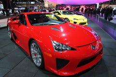 Chicago auto show 2012. New Lexus LFA supercar at Chicago auto show 2012 Royalty Free Stock Photo