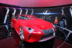 Chicago auto show 2012. New Lexus LF-LC at Chicago auto show 2012 Royalty Free Stock Photography