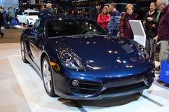 Chicago Auto Show Blue Car Stock Images