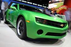 Chicago Auto Show green car royalty free stock photos