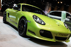 Chicago Auto Show green car royalty free stock images