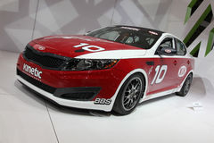 Chicago Auto Show red car royalty free stock images
