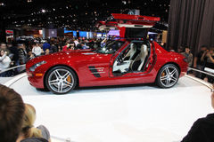Chicago Auto Show red car royalty free stock image