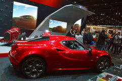 Chicago Auto Show Red Car Royalty Free Stock Photo