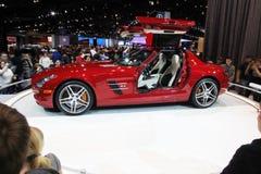 Chicago Auto toont rode auto royalty-vrije stock afbeelding