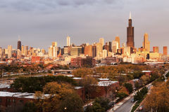 Chicago autumn panorama Stock Images
