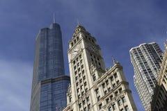 Chicago. Avenida de Michigan Fotos de archivo