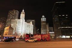 Chicago. Avenida de Michigan Imágenes de archivo libres de regalías