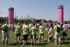 Chicago Avon Walk final ceremony participants Stock Image