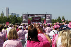 Chicago Avon Walk final ceremony participants Stock Photos