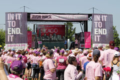 Chicago Avon Walk final ceremony speeches Royalty Free Stock Photography
