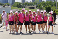 Chicago Avon Walk participants Stock Image