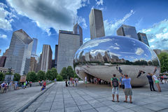 Chicago böna Arkivfoton