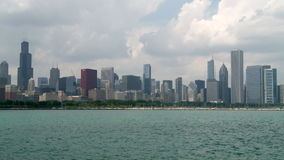Chicago bay city timelapse stock video footage