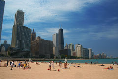 Chicago Beach. The beach on a sunny day in Chicago Royalty Free Stock Images