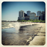 Chicago. The  Chicago beach and building Royalty Free Stock Photo