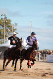 Chicago Beach Polo. Chicago, Illinois. - October 1, 2011 Image of polo players playing at North Ave. Beach Royalty Free Stock Photos