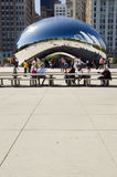 Chicago Bean. The Bean aka Cloud Gate by Anish Kapoor in Chicago's Millennium Park Stock Photos
