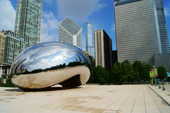 Chicago Bean. In Millennium Park, Chicago Stock Photo