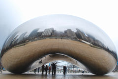 Chicago Bean. Reflection of downtown Chicago on Bean Royalty Free Stock Photography