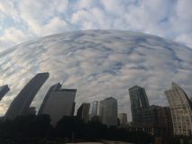 Chicago Bean with building reflection Stock Images