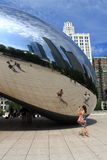 Chicago Bean Cloud Gate Stock Photos