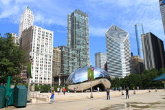 Chicago Bean Cloud Gate Stock Photography