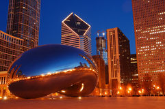 Chicago and the Bean royalty free stock photos