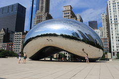 Chicago Bean Cloud Gate in Millennium Park Royalty Free Stock Photography