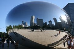 Chicago bean royalty free stock photo