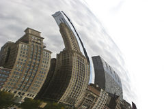 Chicago Bean. In Millennium Park on a Cloudy Day royalty free stock photos