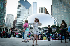 Chicago bean - Music festival Royalty Free Stock Photos