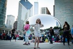 Chicago bean - Music festival royalty free stock photos