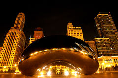 Chicago Bean at night Royalty Free Stock Photos