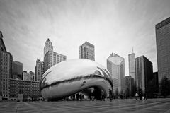 Chicago Bean Noir Royalty Free Stock Photos
