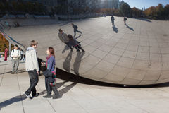 Chicago bean reflection Stock Images
