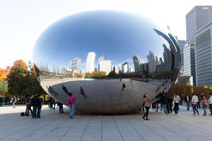 Chicago bean reflection Stock Photos