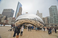 Chicago bean. Chicago reflection bean in downtown Chicago, Illinois Stock Images