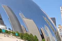 Chicago Bean and reflections Stock Images