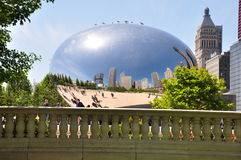Chicago Bean and reflections Royalty Free Stock Image