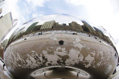 Chicago Bean Art Installation in Millennium Park i Stock Photo