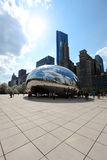 Chicago bean and skyline Royalty Free Stock Images