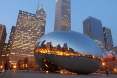 Chicago bean at twilight Royalty Free Stock Photo