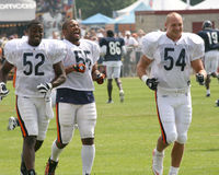 Chicago Bears players Stock Image